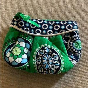 Vera Bradley Cupcakes Green Sweetheart Pouch NWOT